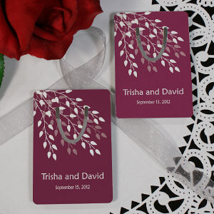 Personalized Leaves Of Love Wedding Bookmark Wedding Favor