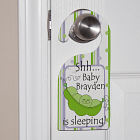Personalized Pea Pod Baby Door Hanger