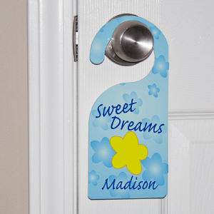 Personalized Sweet Dreams Door Hanger