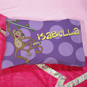 Personalized Monkey Pillow