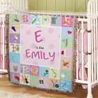 Personalized Alphabet Tapestry Throw Blanket 83039815