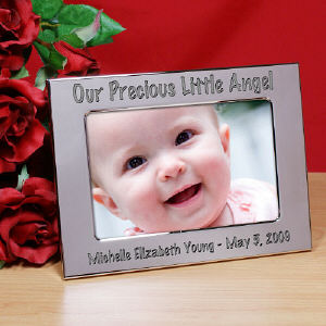 Engraved Baby Silver Picture Frame