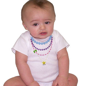 Personalized Necklace Infant Bodysuit