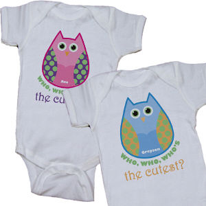 Personalized Who's the Cutest Infant Bodysuit