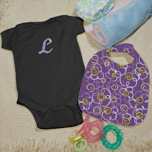 Personalized Flower Creeper and Bib Set