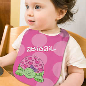 Personalized Turtle Baby Bib
