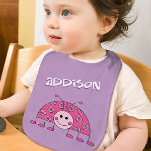 Personalized Lady Bug Baby Bib E393933