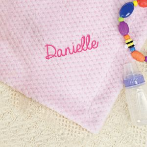 Personalized Pink Baby Blanket E7814171