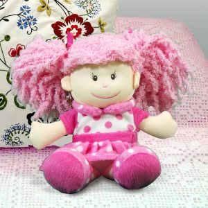 Embroidered Posy Rag Doll