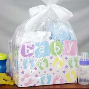 Embroidered New Baby Boy Gift Basket G78533