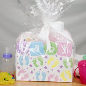 Personalized New Baby Girl Gift Basket