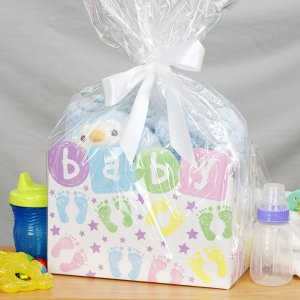 Personalized New Baby Boy Gift Basket
