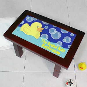 Personalized Rubber Ducky Step Stool