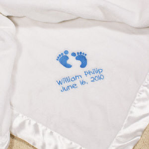 Embroidered Baby Boy Fleece Blanket