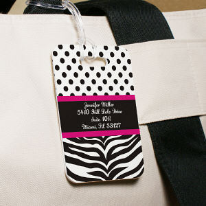 Personalized Zebra Luggage Tag 4160344