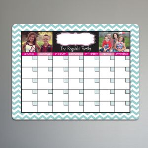 Personalized Photo Calendar Dry Erase Board