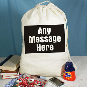 Any Message Here Laundry Bag