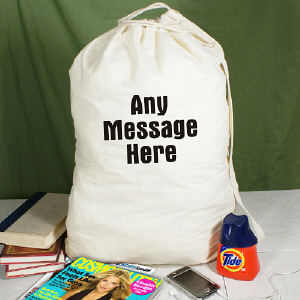 Any Message Here Personalized Laundry Bag