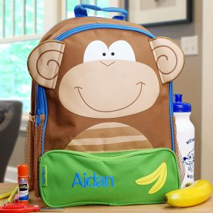Embroidered Monkey Backpack