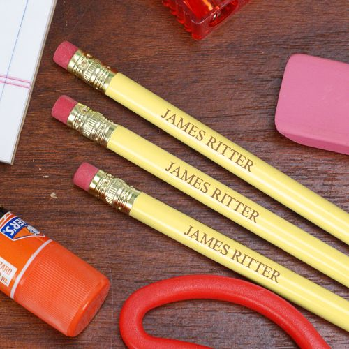 Personalized Yellow School Pencils L451913YL