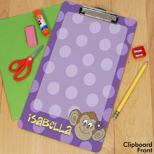 Personalized Monkey Clipboard