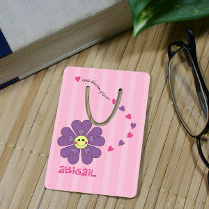 Personalized Flower Bookmark