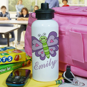 Personalized Butterfly Water Bottle