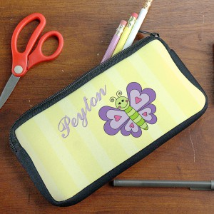 Personalized Butterfly Pencil Case U39277