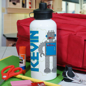 Personalized Robot Water Bottle
