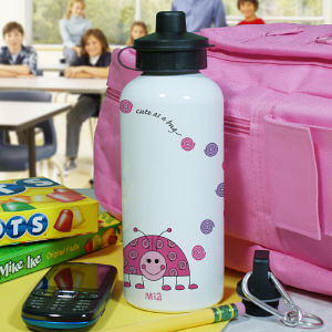 Personalized Ladybug Water Bottle