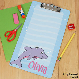 Personalized Dolphin Clipboard