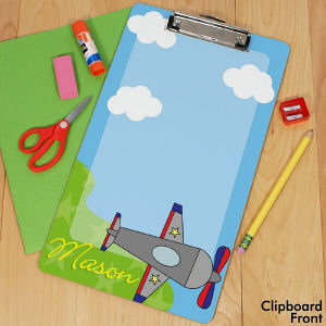 Personalized Airplane Clipboard