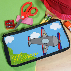 Personalized Airplane Pencil Case