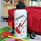 Personalized Electric Guitar Water Bottle