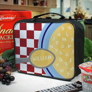 Personalized Alphabet Soup Lunch Tote