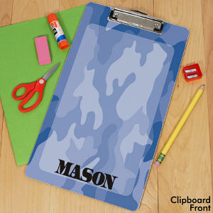 Personalized Camo Clipboard
