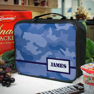 Personalized Camo Lunch Tote
