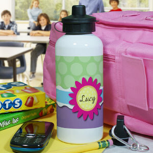 Personalized Flower Water Bottle