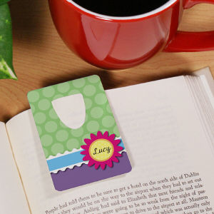 Flower and Polka Dot Bookmark