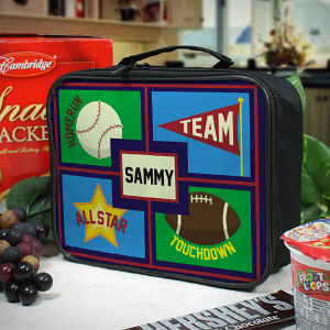 Personalized Sports Lunch Tote