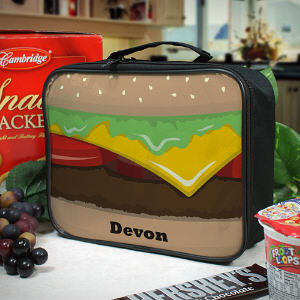 Personalized Cheese Burger Lunch Tote