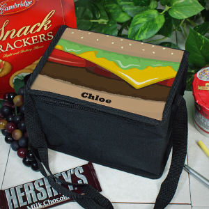 Personalized Cheese Burger Lunch Cooler