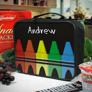 Personalized Crayons Lunch Tote