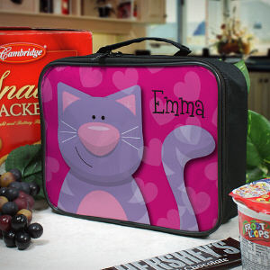 Personalized Kitty Cat Lunch Tote