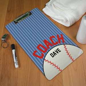Personalized Baseball Coach Clipboard