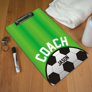 Personalized Soccer Coach Clipboard