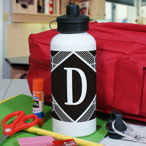 Personalized Geometric Squares Water Bottle