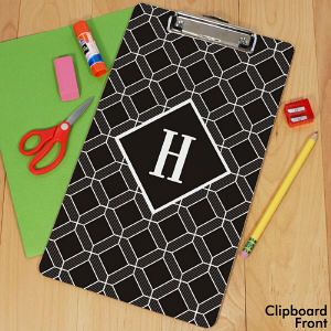 Personalized Geometric Squares Clipboard