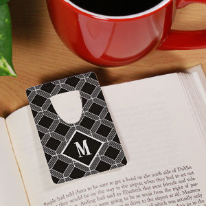 Personalized Geometric Squares Bookmark