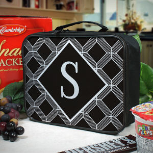 Personalized Geometric Squares Lunch Tote